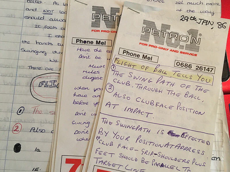 Notes along the way - MAKE NOTES, SO IMPORTANT