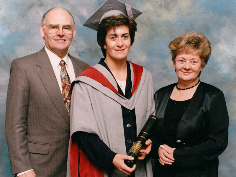 A proud day receiving my honorary fellowship with Mum and Dad. UCLAN. My brother still thinks I bribed someone !